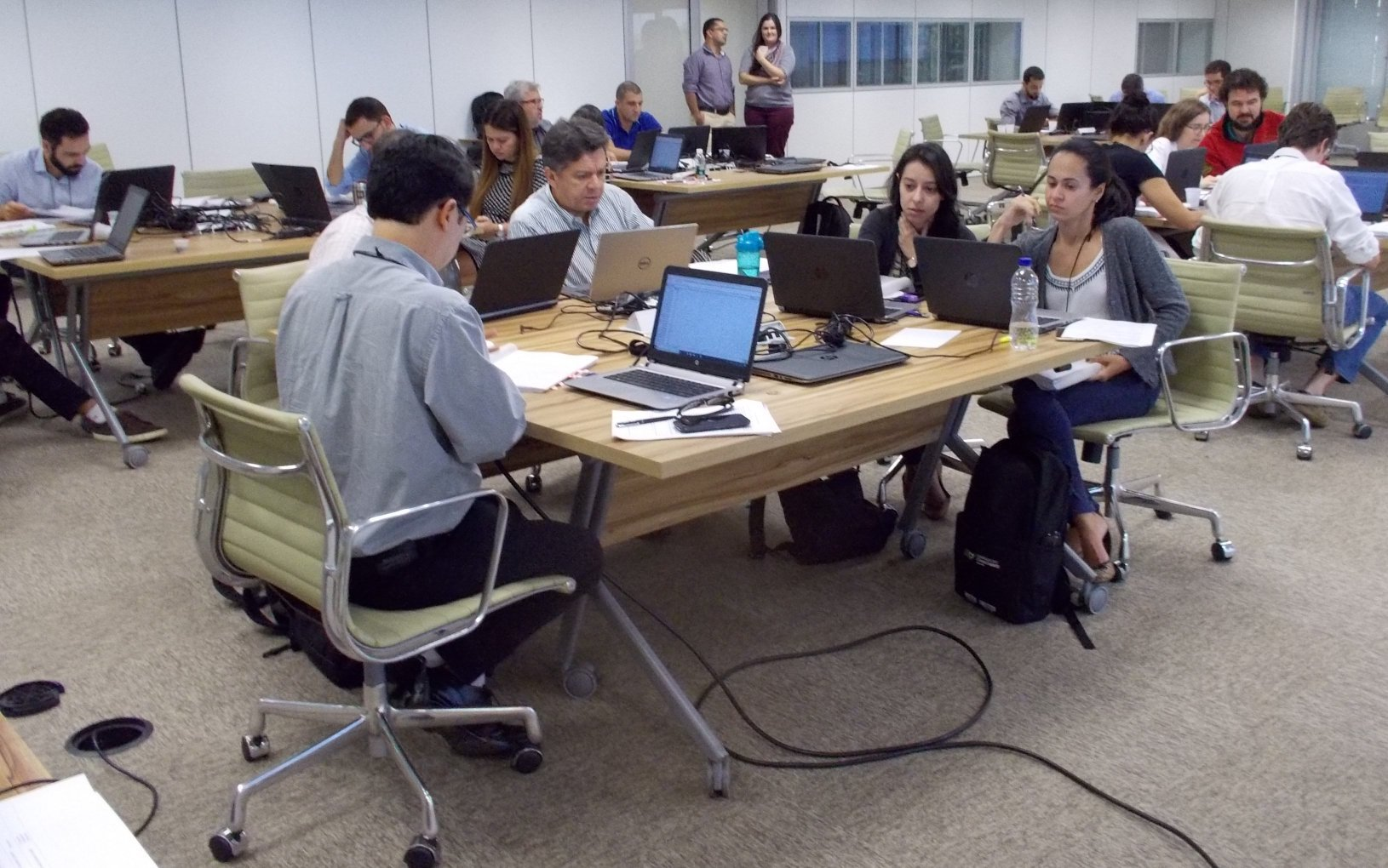 Class working hard at the well-equipped ENAP training centre in Brasilia