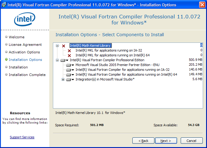 Installing Intel Fortran 11 for GEMPACK