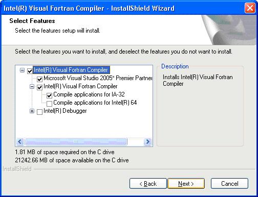 Installing Intel Fortran 10 for GEMPACK