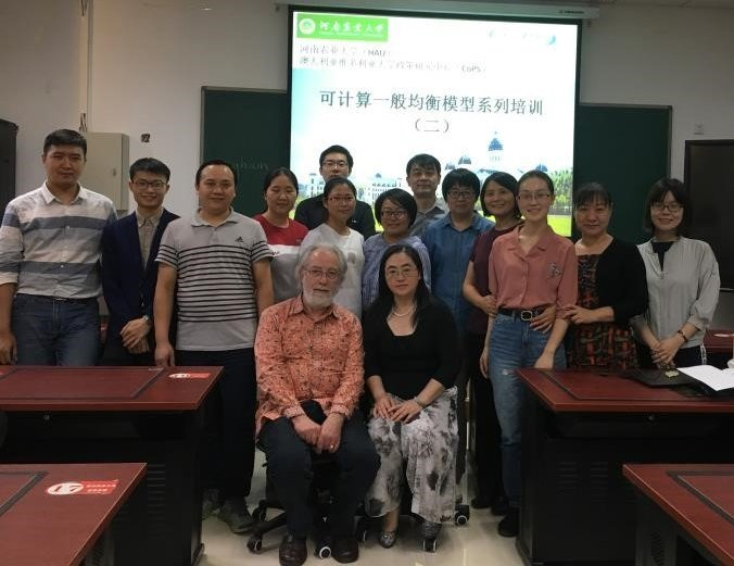 September 2018 CGE data course held at Henan Agricultural University, China