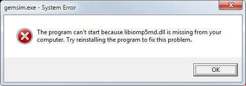 Missing DLL problem