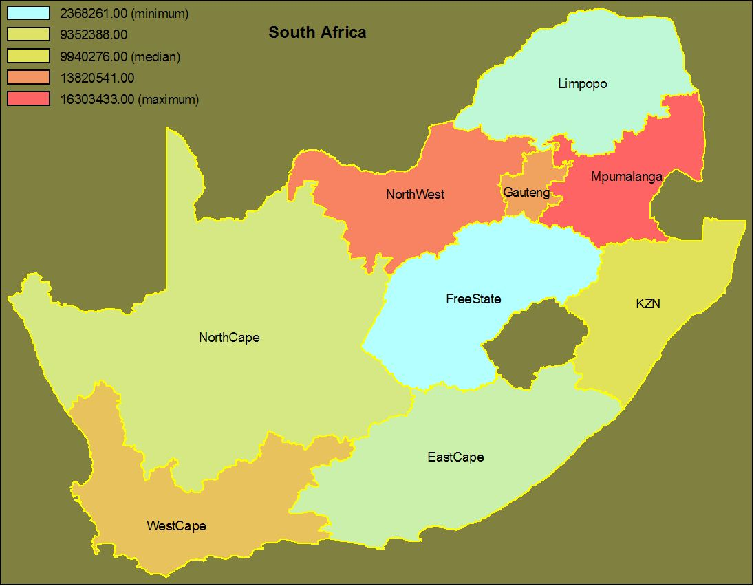 south africa map free vector