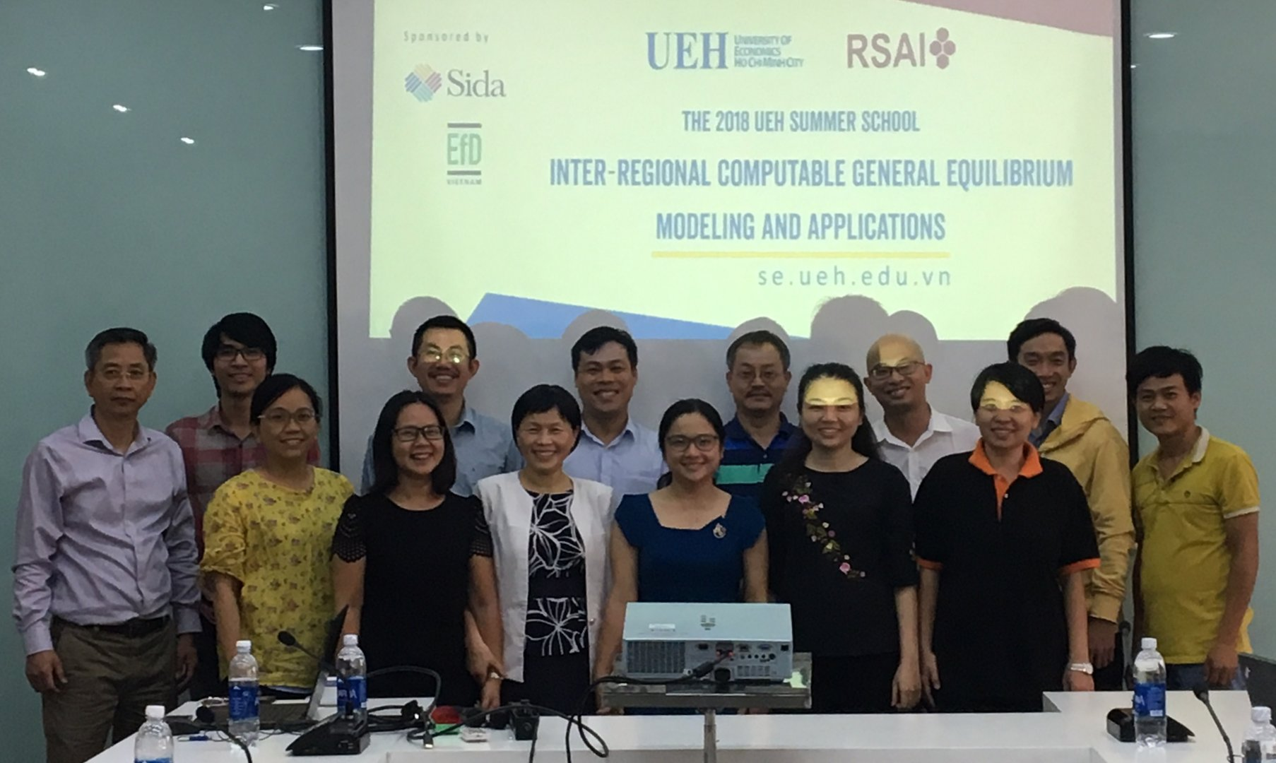 August 2018 Vietnam Regional CGE course held at University of Economics, Ho Chi Minh City